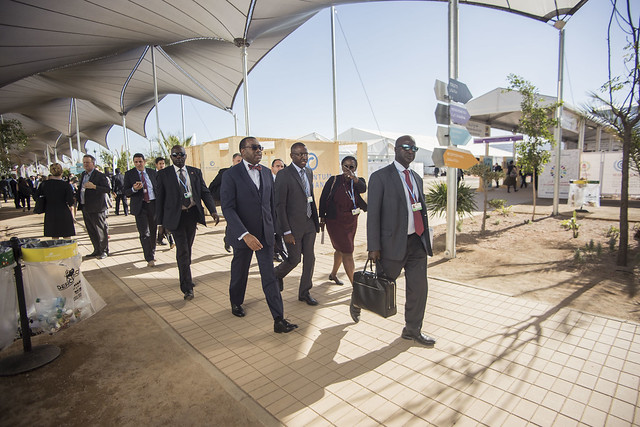 COP22, Le Président Adesina au Pavillon Afrique, 14 novembre 2016