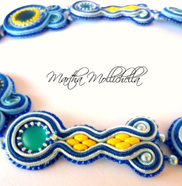 soutache necklace handmade in Italy by Martha Mollichella Handmade Jewelry