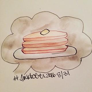 8/31 Pancakes #inktober #inktober2016
