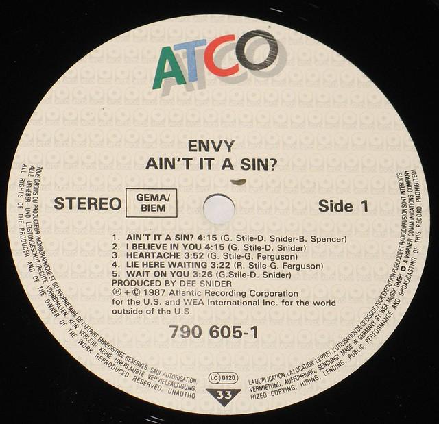 ENVY AIN'T IT A SIN