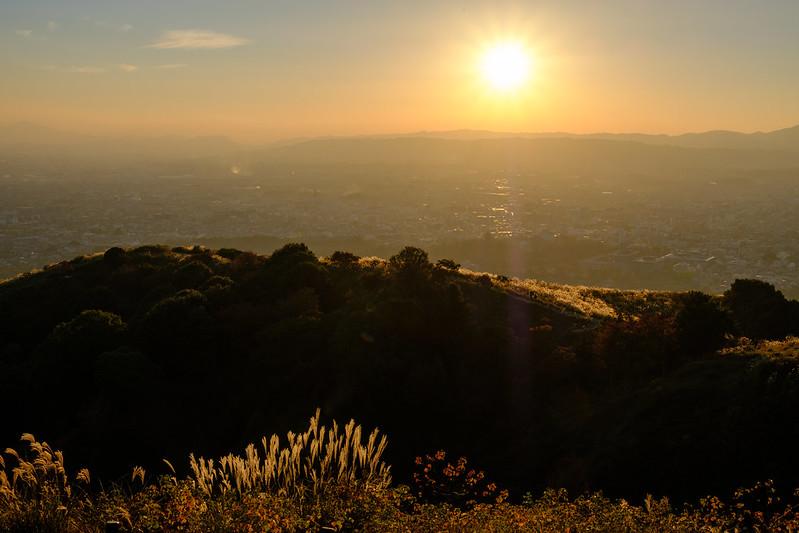 Nara Basin in the sunset
