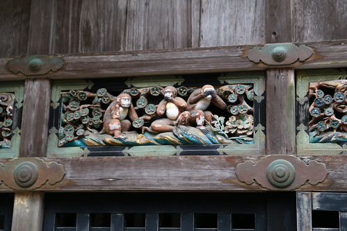 Toshugu shrine - 3 monkeys see no evil, hear no evil and speak no evil