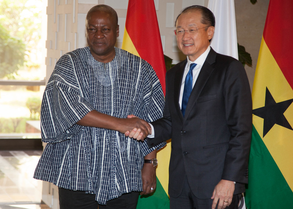 President Mahama meets the World Bank President at the Flagstaff House