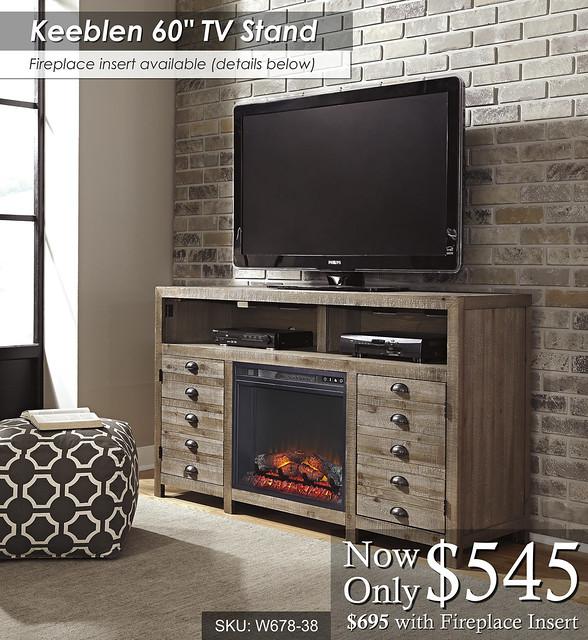 Keeblen 60in TV stand W678-38-W100-01