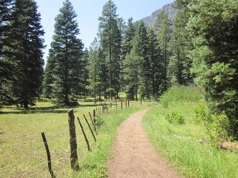 Hiking the Pine River Trail along the border of the Granite Peak Ranch