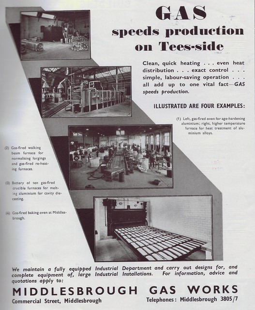 MIddlebrough Gas Works advert 1949