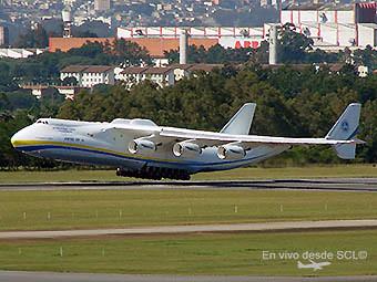 Antonov An225 landing GRU (E. Moura)