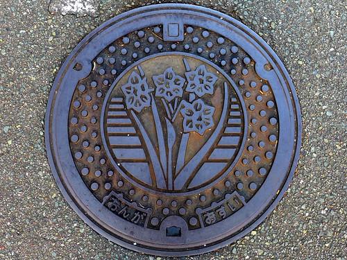 Onga Fukuoka, manhole cover (福岡県遠賀町のマンホール)
