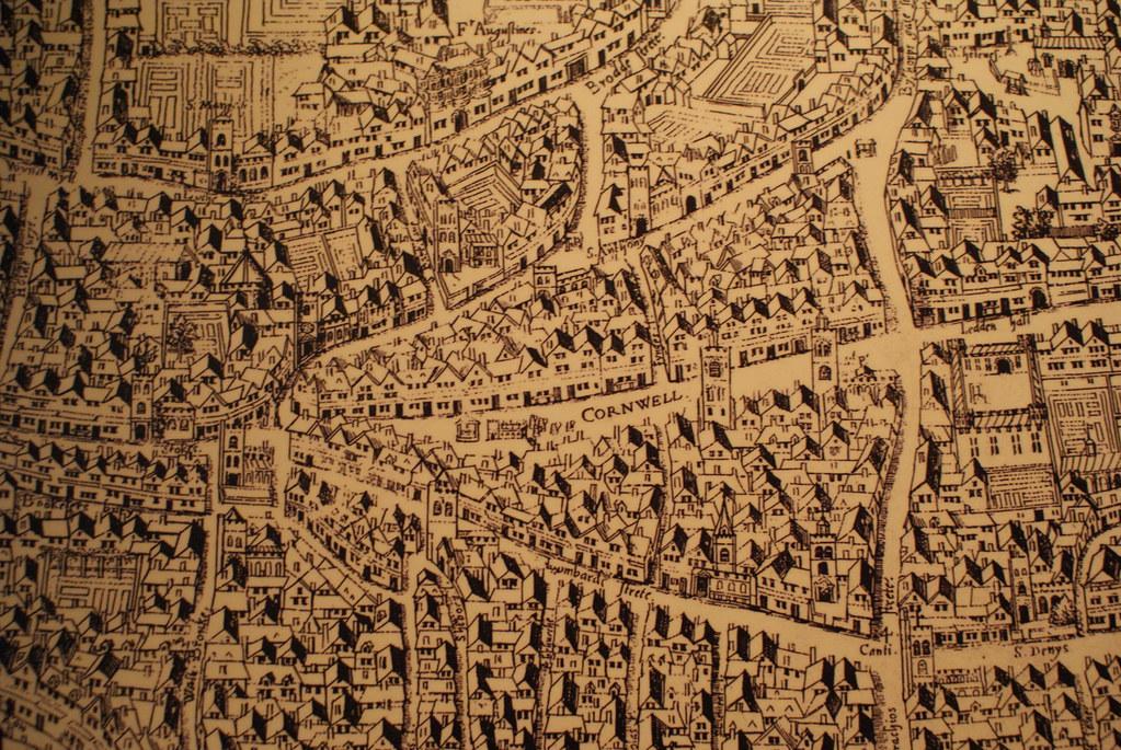 Plan de Londres au Moyen-Age.