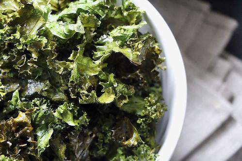 Grünkohl-Chips; Kale-Chips
