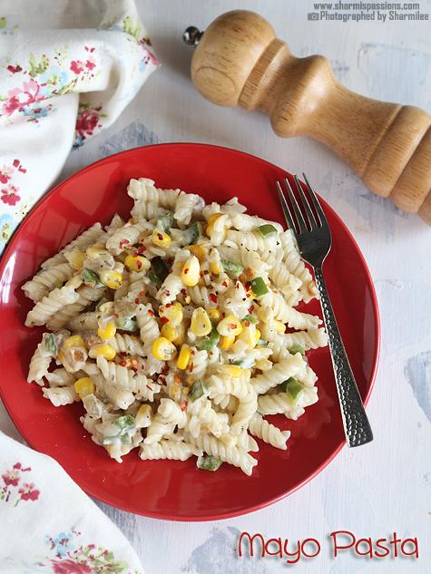 Sweet Corn Mayo Pasta Recipe