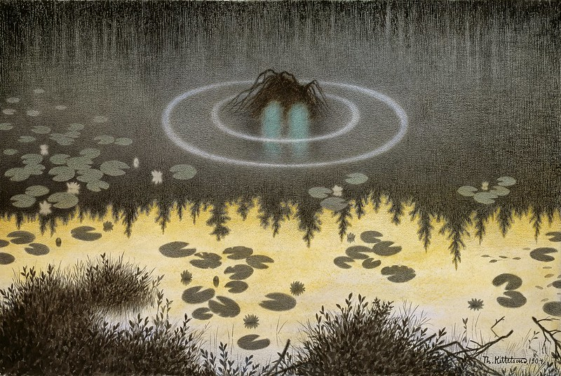 Theodor Kittelsen - The Monster of the Lake, 1904