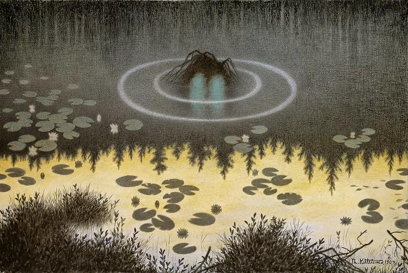 Theodor Kittelsen - The Monster of the Lake, 1904