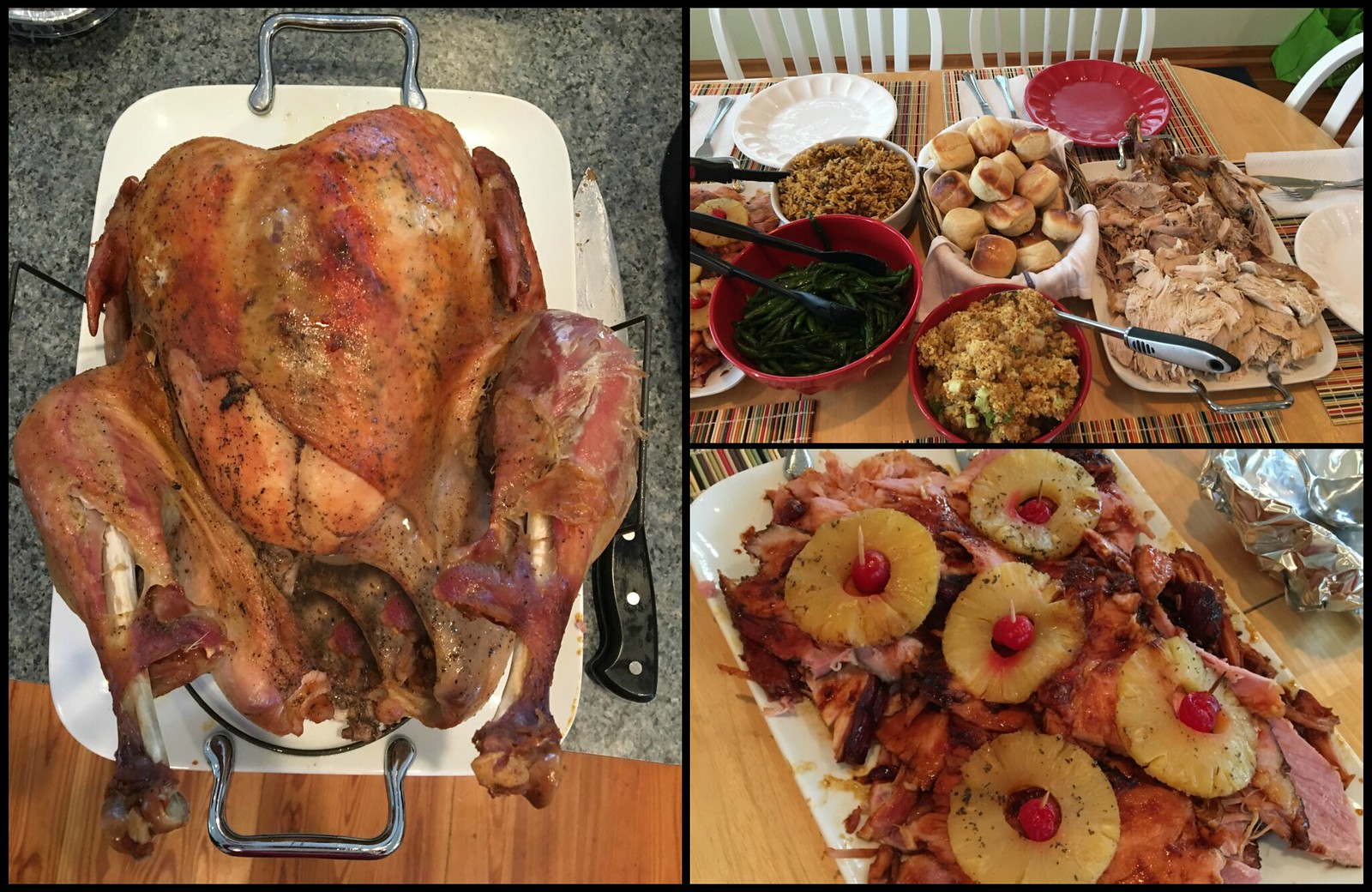 Thanksgiving Dinner collage