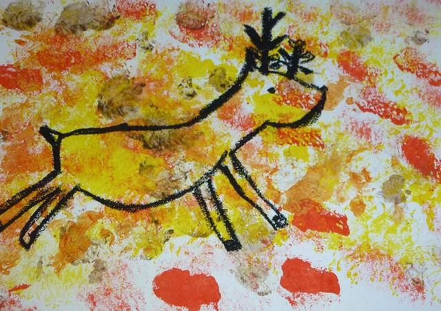 Des peintures rupestres par les CE1B