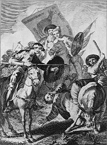 16j31 Goya ilustra Cervantes El pueblo del rebuzno
