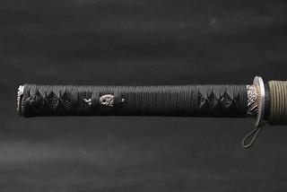 Wakizashi Japanese Samurai Sword handle
