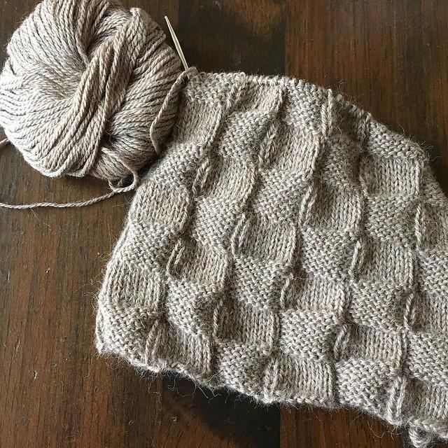 Yes Checks hat, in progress. #knitting