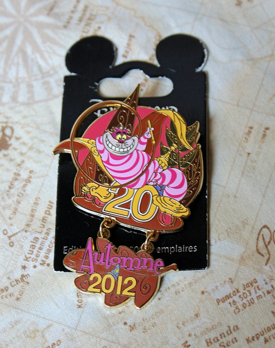 Limited edition Cheshire Cat pin
