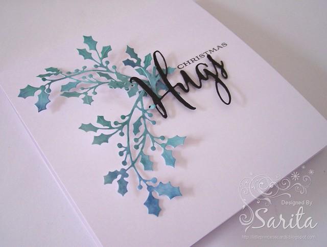 Christmas Holly card 2
