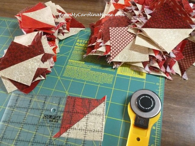Sewing Scrap Dance Waltz HSTs ~ From My Carolina Home