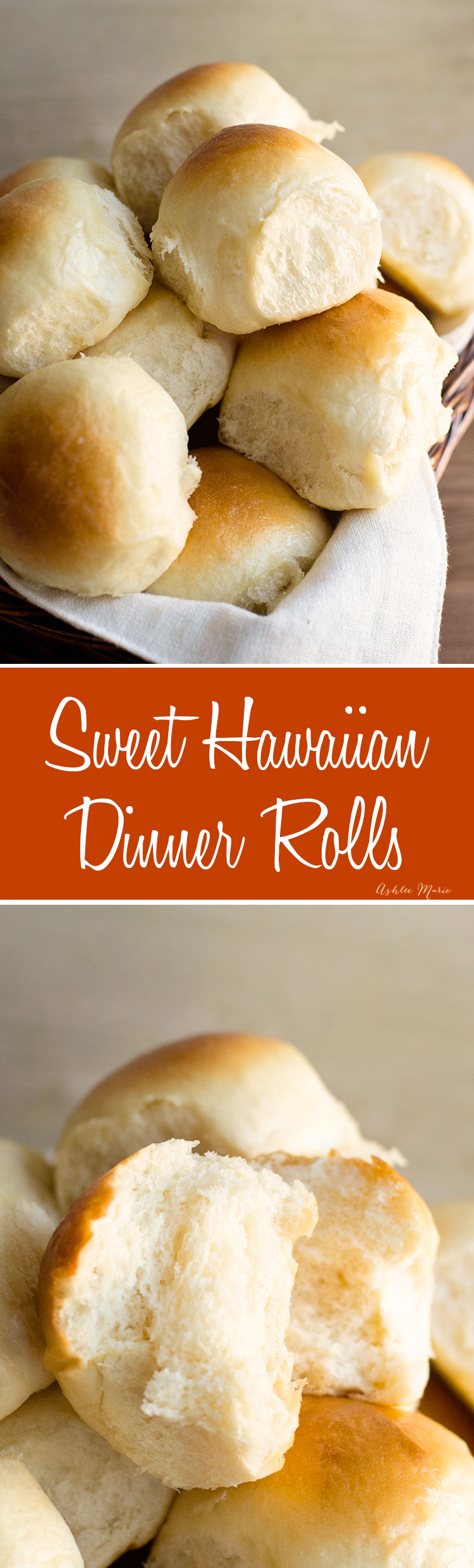 these slightly sweet dinner rolls are always gone first - no matter how big of a batch you make - they are a copycat recipe of the popuplar kings hawaiian rolls and they are so easy to make