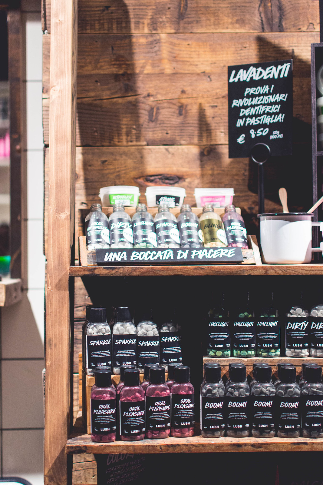 Teeth products and exclusives for the new Lush Duomo shop