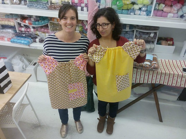 teaching how to make a simple dress
