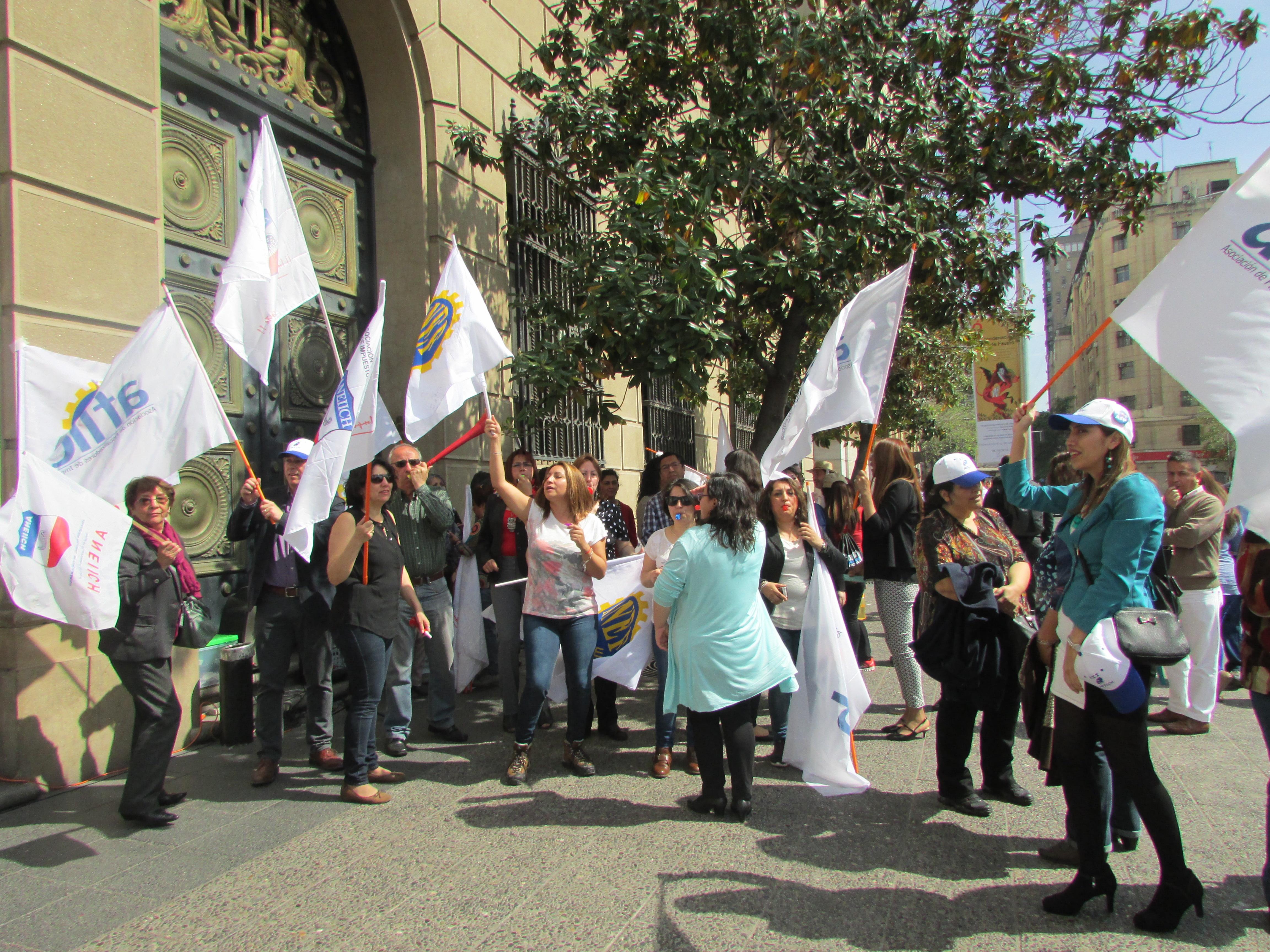 FTH en Paro Nacional Plaza de la Constitución por Reajuste Digno – 21 Octubre 2016