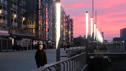 Dusk in Oostende