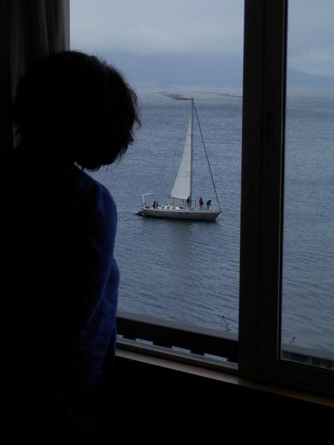 Velero en la ventana