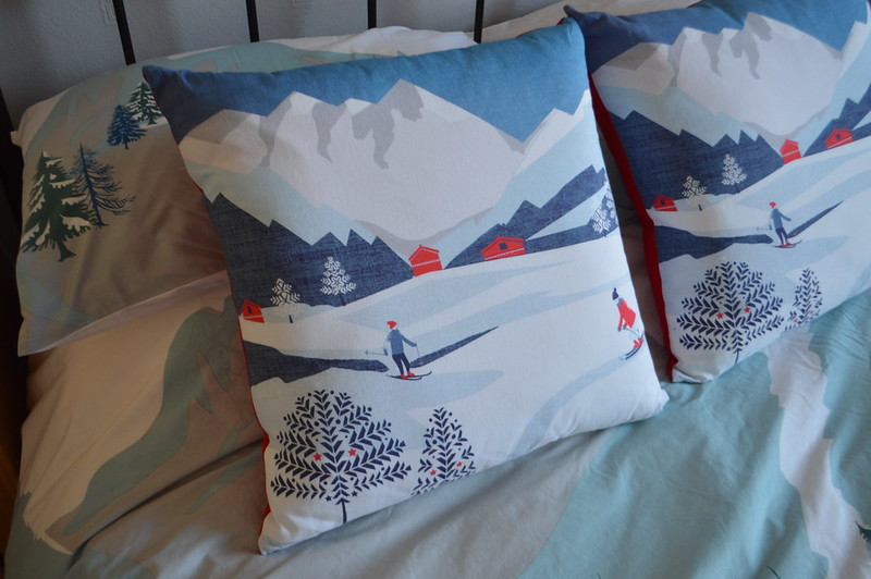 this is a picture of alpine themed cushions