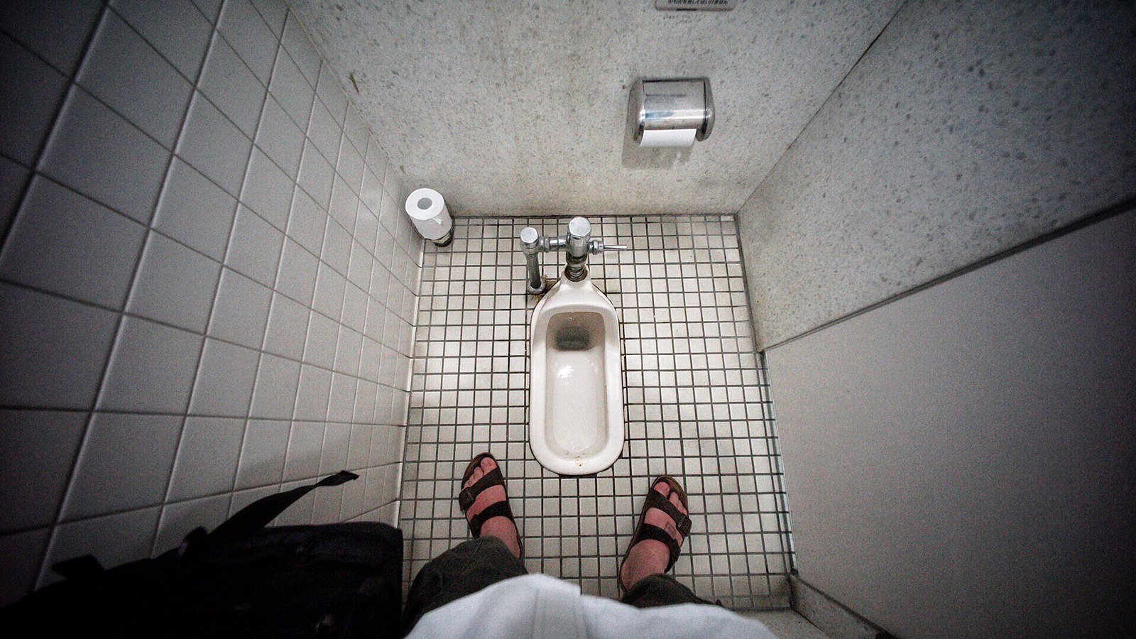 MJ vs. Japanese Toilet: Round 1! #japan15 #SonyA7 #Voigtlander12mm #UltraWideAngle #foto