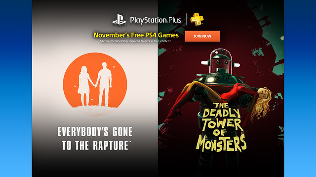 PlayStation Plus, November 2016
