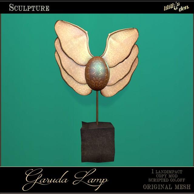 Lilith's Den Garuda Lamp Sculpture
