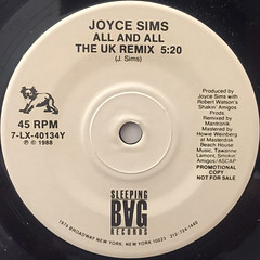 JOYCE SIMS:LOVE MAKES A WOMAN(LABEL SIDE-B)
