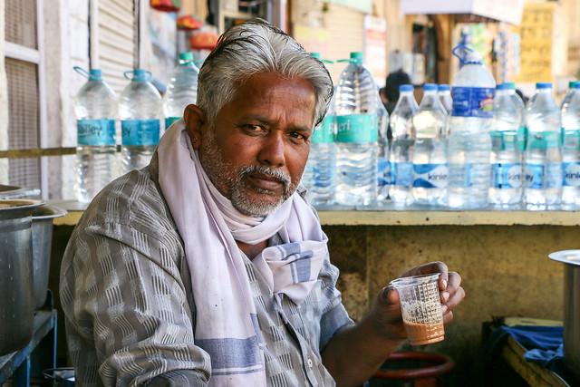 Portrait of Chaiwala, Jaisalmer, India ジャイサルメール チャイ屋の渋いおじさん