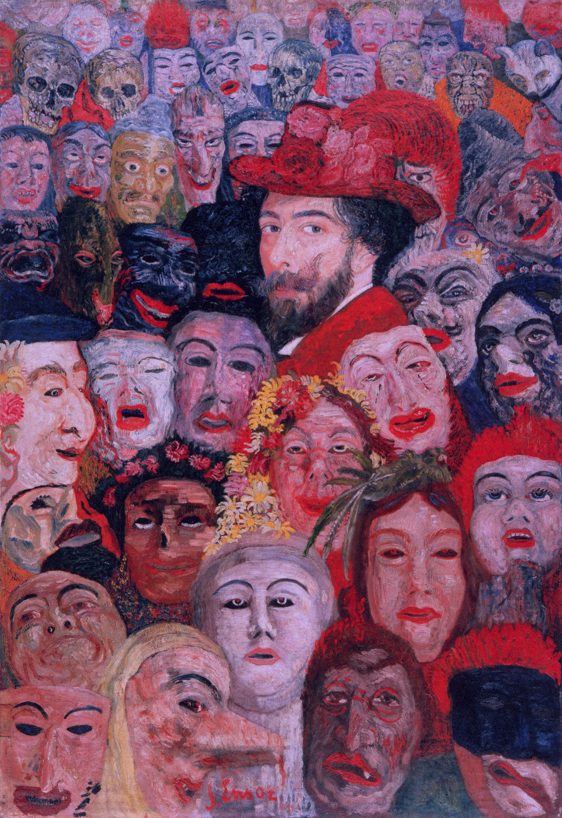 James Ensor - Ensor Surrounded By Mass, 1899