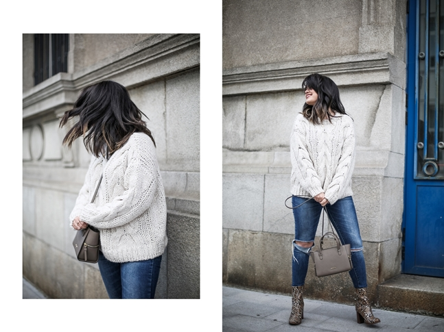 Ripped-jeans-La-Redoute-White_Knit-Snake_Effect_Booties-Acosta-Carmen-_Bag-Outfit-Street_Style8