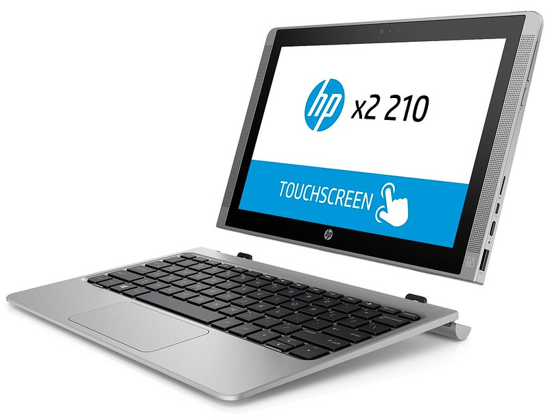 HP x2 210 G1 (10, touch, Turbo Silver) Catalog, Detached, Left facing