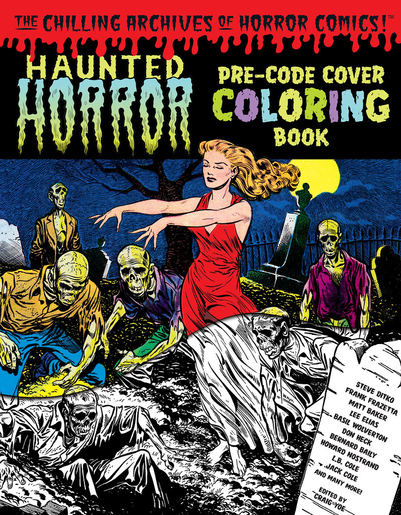 Haunted-Horror-Pre-Code-Cover-Coloring-Book