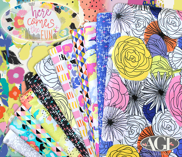 Art Gallery Fabrics Here Comes The Fun Collection by Caroline Hulse