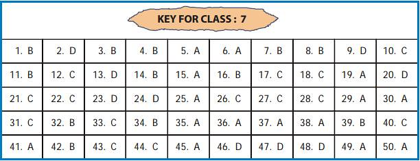 UCO answer key for class 7