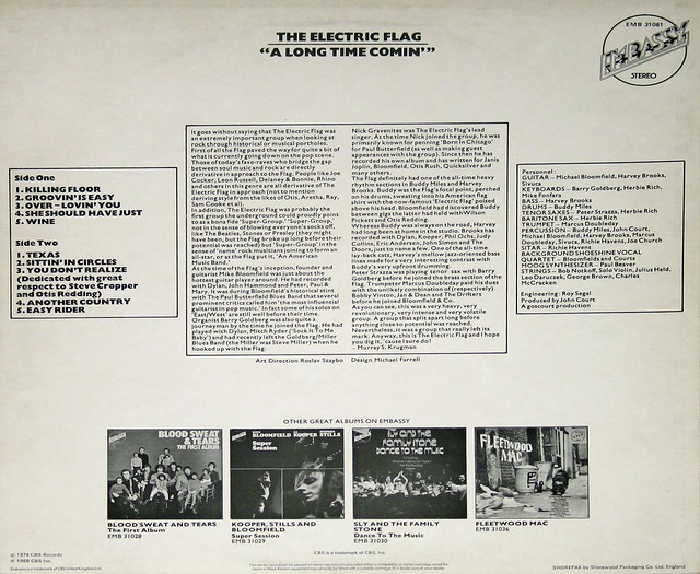 Electric Flag - A Long Time Coming, Feat Michael Bloomfield