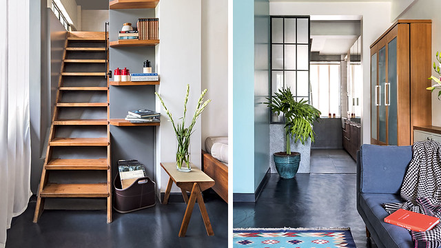 This tiny apartment is less on space but BIG on style.