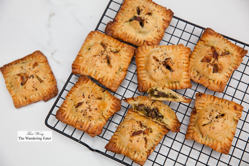 Lamb persillade savory hand pies with Cavit Select Red Blend wine