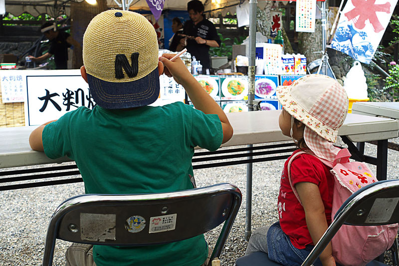 富士川町 あじさい寺、妙法寺 境内の屋台