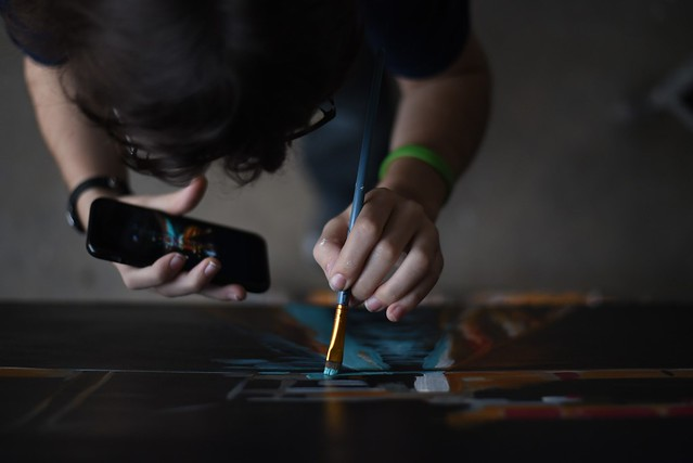Taylor Bielecki - artist at work