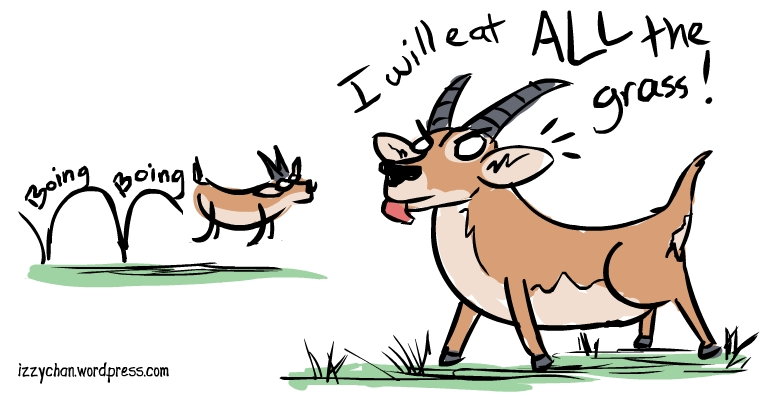 I will eat all the grass boing boing