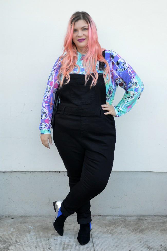 Outfit plus size salopette  (2)